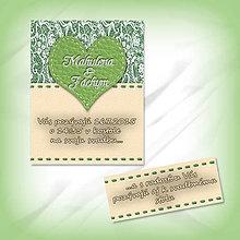 Papiernictvo - Svadobné oznámenie s čipkou 5 - 5624418_
