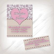 Papiernictvo - Svadobné oznámenie s čipkou 6 - 5624944_