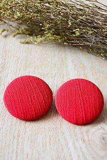 Materiál ručne robený - .červené gombičiská 38 mm - 5627575_
