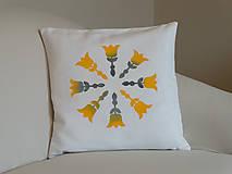 Úžitkový textil -  Folk tulipán maľovaný - 5628184_