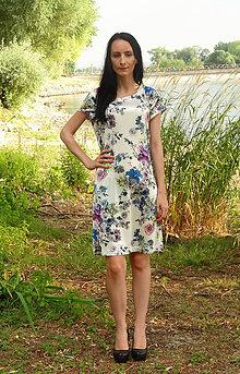 Šaty - Kvietkové šaty pre nežné dámy - 5628207_