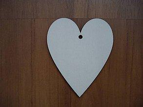 Polotovary - Drevené srdce 9 x 7,5 cm - 5627275_