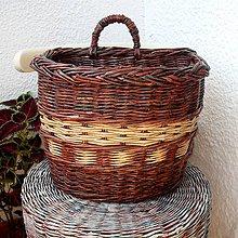 Košíky - papierový košík s jedným uškom na hríby - 5626509_