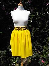 Sukne - sukňa žltá vyšívaná - 50% - 5626438_