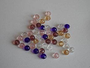 Korálky - Korálky sklenené, brúsené - 5627324_
