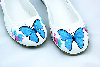 Obuv - baleriny s motýľmi - 5629211_