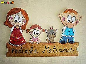 Tabuľky - Menovka - rodinka - 5631000_