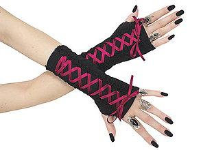 Rukavice - Gothic bezprstové dámské rukavičky na palec 0275 - 5634400_