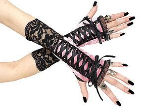 Rukavice - Dámské spoločenské rukavice  0375 - 5634583_