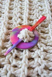 Ozdoby do vlasov - .spona s ihlicou v pestrých farbách 2v1 - 5633891_