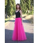 Sukne - Tylová sukňa dlhá - 5632588_