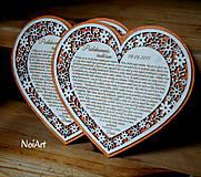 Darčeky pre svadobčanov - Svadobné srdce poďakovanie rodičom 7 - 5631713_