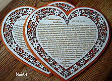 Darčeky pre svadobčanov - Svadobné srdce poďakovanie rodičom 7 - 5631714_