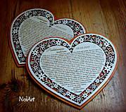 Darčeky pre svadobčanov - Svadobné srdce poďakovanie rodičom 7 - 5631715_