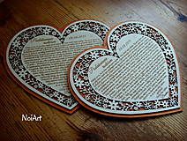 Darčeky pre svadobčanov - Svadobné srdce poďakovanie rodičom 7 - 5631716_