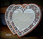 Svadobné srdce poďakovanie rodičom 7