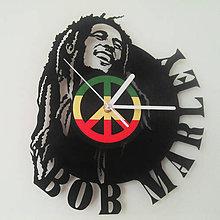 Hodiny - Bob Marley - vinylové hodiny z LP - 5632191_