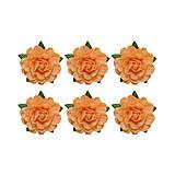 Papier - Papierové kvetiny Ruža 18mm - Svetlo oranžová - 5633526_