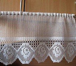 Úžitkový textil - háčkovaná záclona - 5633459_