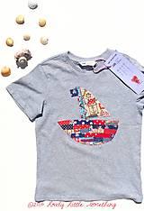 Detské oblečenie - Tričko pirátske, veľkosť 122/128 - 5632041_