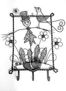 Dekorácie - Strašiačik - vešiačik na klúče - 5632451_