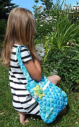 Detská taška -  Tyrkys ZĽAVA zo 14 na 11€