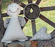 Dekorácie - Anjel, anjelik - Veselí anjelici z neba (7) - 5636831_