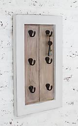 Nábytok - Vešiačik na kľúče FREDERICA BROWN XS - 5635026_