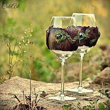 Nádoby - Zamilované - svadobné poháre (2 ks) - 5635232_