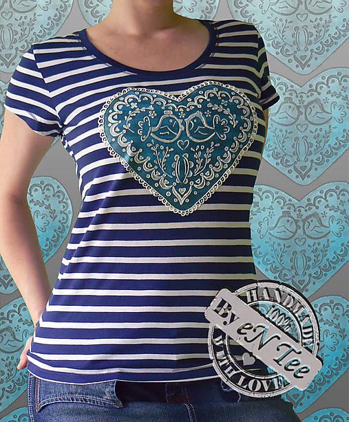 b5a6efb01 I LOVE SLOVAK FOLK - tričko dámske / entee - SAShE.sk - Handmade Tričká