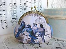Peňaženky - Ptáčátková taštička - 5636438_