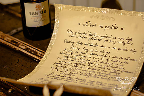 Svadobný pergamen :) / na zákazku