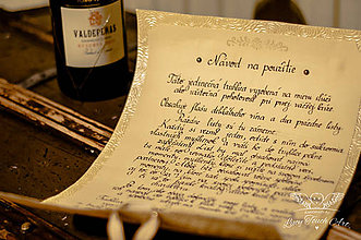 Papiernictvo - Svadobný pergamen :) / na zákazku - 5635331_