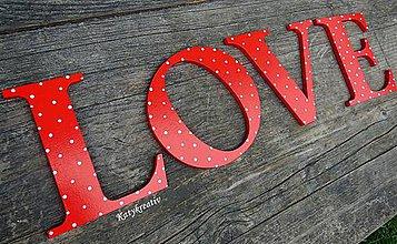 Tabuľky - LOVE 13cm výška - 5638652_