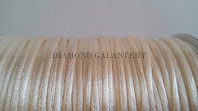 Galantéria - Saténová šnúrka 2,5 mm - krémová - 5639585_