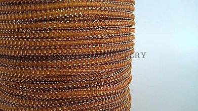 Galantéria - Šnúrka s lurexom 2 mm - škoricovo zlatá tmavšia - 5639641_