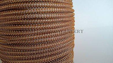 Galantéria - Šnúrka s lurexom 2 mm - škoricovo zlatá svetlejšia - 5639645_