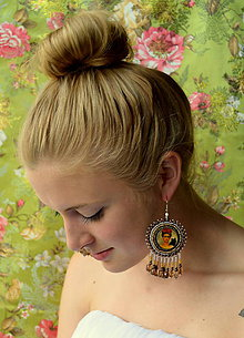 Náušnice - Frida Kahlo ....vyšívané náušnice n.16 - 5638033_