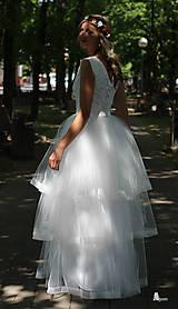 Šaty - Svadobné šaty z troch volánových vrstiev tylu - 5639189_