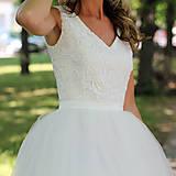Šaty - Svadobné šaty z troch volánových vrstiev tylu - 5639192_