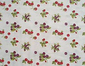 Textil - Bavlnená látka s lesnými plodmi - 5638686_