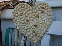 svadobné srdce žlté lupene