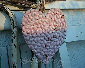 Dekorácie - srdce ružové lupene veľké - 5638334_