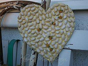Dekorácie - svadobné srdce žlté lupene - 5638402_