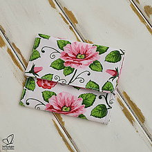 Peňaženky - Kvetovaná peňaženka - 5638784_