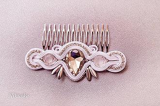 Ozdoby do vlasov - Svadobný hrebienok - 5638771_
