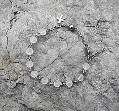 Náramky - ruženček na ruku krištáľ matný - CHIRURGICKÁ OCEĽ - 5640064  2b6f66bc160