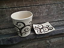 Nádoby - Sada pohár + mydlovnička s dierkou Glamor - 5641641_