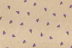 Textil - Látka bavlna levandule - 5640270_