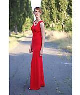 Šaty - Dlhé šaty s áčkovou sukňou... - 5641005_